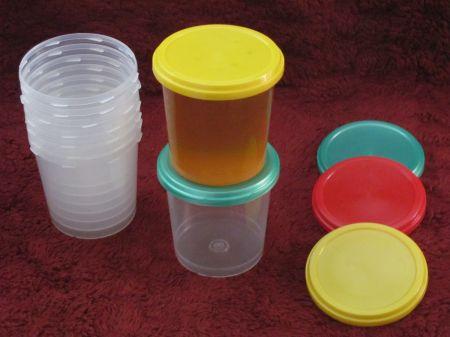 Буркани пластмасови  винтови  за 1 кг мед ( 750 mll )